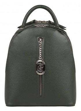 Кожаный рюкзак женский из натуральной кожи Franchesco Mariscotti 1-4250к-021 хаки
