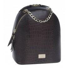Рюкзак женский кожаный Franchesco Mariscotti 1-4225к тр кайман корич