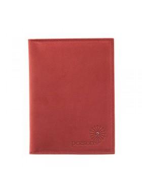 Обложка для автодокументов женская натуральная кожа ОВ-1 люкс красный Флауэрс
