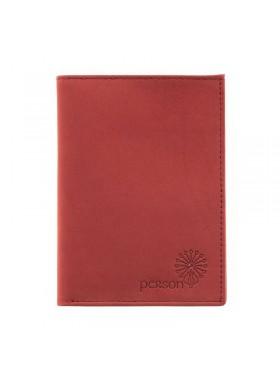 Портмоне для автодокументов с отделением для денег и карт С-БИ-1 люкс красный Флауэрс