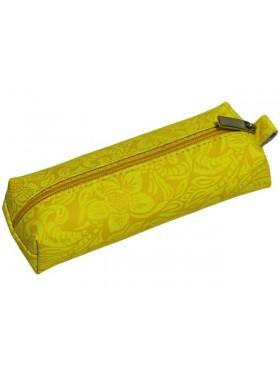 Ключница женская на молнии натуральная кожа КМ-2-Ф аляска желтая Person