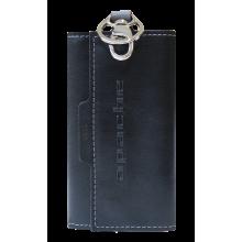 Ключница кожаная мужская для ключей КБ-L limited Apache черный