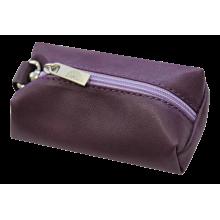 Футляр для ключей из кожи женский С-КМ-1 друид фиолетовый Флауэрс