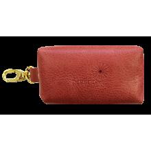 Футляр для ключей женский из кожи С-КМ-1 друид красный Флауэрс