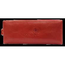 Ключница из натуральной кожи люкс красный С-КМ-2 Флауэрс