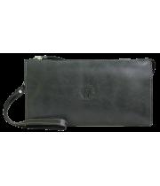 Клатч портмоне мужское кожаное для документов и денег БМ-А дымчато-черное Apache