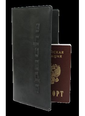 Портмоне путешественника для документов и денег Вояж-A дымчато-черное Apache