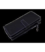 Портмоне-тревел мужское из натуральной кожи МК-S-8 черный Apache RFID
