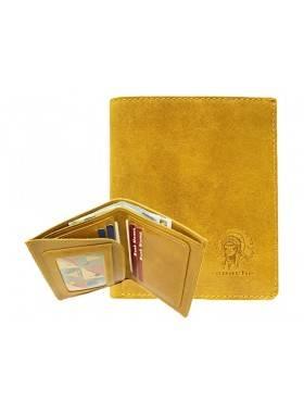 Мужской кошелек портмоне ВП-А табачно-желтое Apache