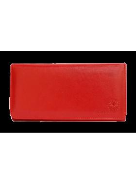 Портмоне кошелек женский кожаный С-ВП-2 люкс красный Флауэрс