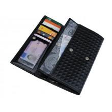 Портмоне кошелек женский кожа ВП-17 Avenue de La noir Kniksen черный