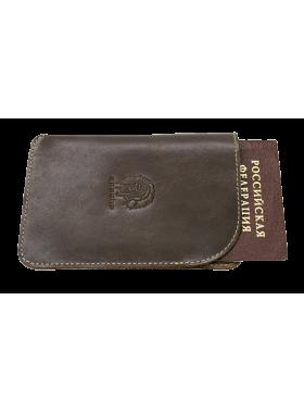 Обложка для паспорта ОП-А дымчато-коричневая Apache