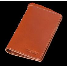 Обложка для паспорта кожаная ОП-S рыжая Apache с защитой RFID