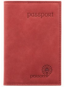 Обложка для паспорта С-ОП-1 друид красный Флауэрс