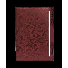 Обложка на паспорт женская из натуральной кожи ОП-16 rubin бордовый Kniksen
