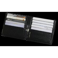 Кредитница кожаная ФСК-8-PS черный Person с защитой RFID