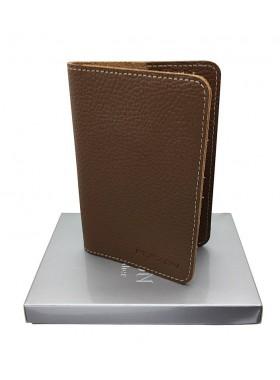 Обложка для паспорта кожаная коричневая Person-RS