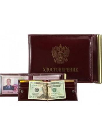 Кошелек обложка для удостоверения зажим для денег КУ-4-УД ш кр Person