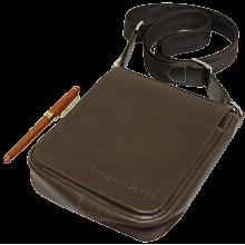 Мужская сумка планшет из кожи дымчато-коричневая СМ-7013 Apache