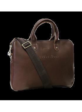 Мужская сумка на плечо из натуральной кожи 9313 коричневая Apache