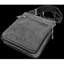 Сумка мужская через плечо планшет СМ-6014-A серая Apache