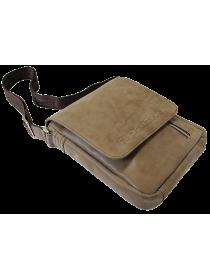 Мужская сумка планшет через плечо СМ-4014-А коричневая Apache