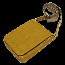 Мужская сумка планшет кожаная табачно-желтая СМ-7013 Apache