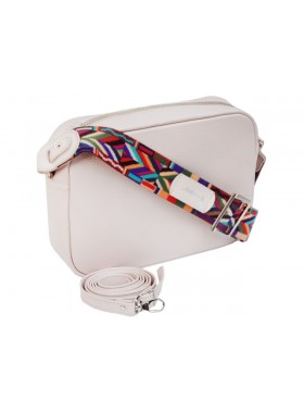 Женская сумка кросс боди натуральная кожа Libellula розовая Person