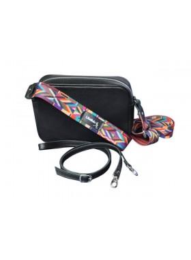 Женская сумка кросс боди натуральная кожа Libellula черная Person