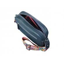 Женская сумка кросс боди натуральная кожа Libellula синяя Person
