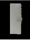 Большая визитница для пластиковых карт женская из кожи С-ВМ-6 кайман белый Флауэрс
