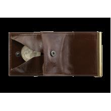 Зажим для денег с монетнецей коричневый ОК-5 Person