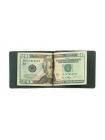 Зажим для денег из кожи черного цвета ОК Person