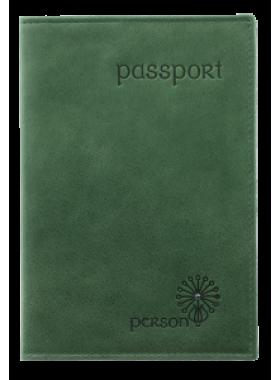 Обложка для паспорта С-ОП-1 друид зеленый Флауэрс