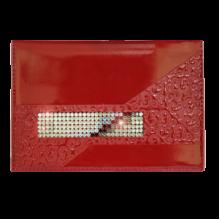 Дамский бумажник водителя или обложка для паспорта БС-12 escala red красного цвета Kniksen